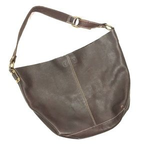 Lucky Brand Brown Cow Hide Leather Bag